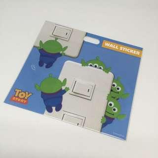 日本迪士尼商店反斗奇兵三眼仔燈制貼紙alien Toystory Stickers
