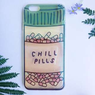 Chill Pill Transparent Hologram iPhone Case