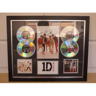 Signed Framed One Direction piece Limited Edition