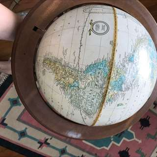 FREE Globe With Wooden Stand