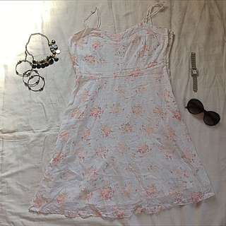 Levi's White Cotton Dress
