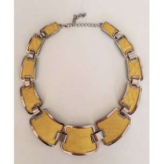 Yellow Link Necklace
