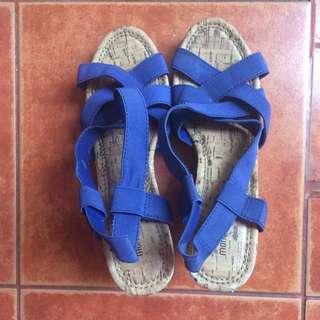 WEDGES 7 CM Navy Blue