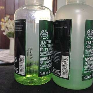 The Body Shop Tea Tree Skin Clearing Toner & Facial Wash