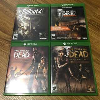 Xbox One Games (Fallout 4, State Of Decay, The Walking Dead)
