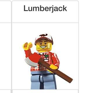 Lego Series 5 Minifigures Lumberjack