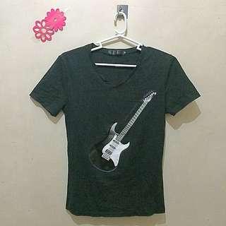 V-Neck Guitar Shirt For Women