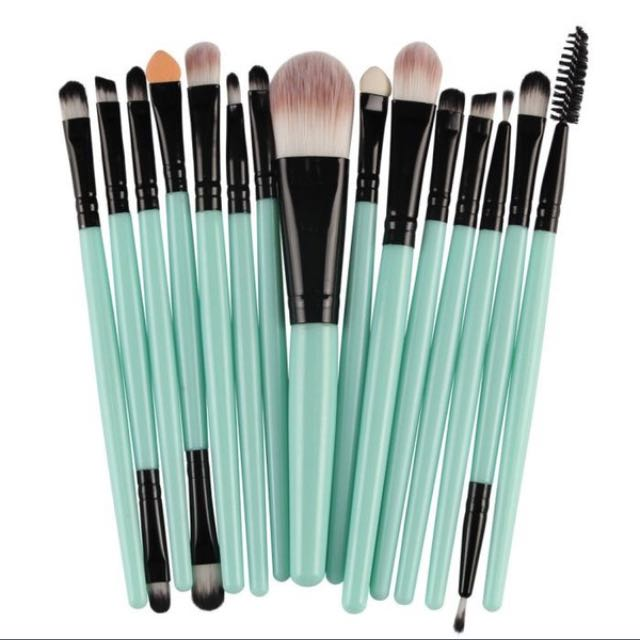 15 pcs pro makeup brushes