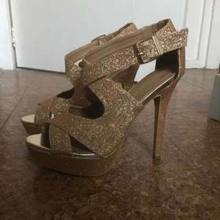 Gold Sparkly Shoes