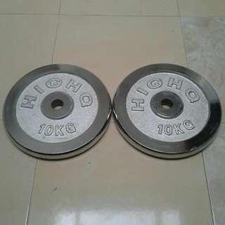 10kg Barbell Dumbell Plate