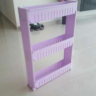 (IMM)Multipurpose 3 tier purple rack