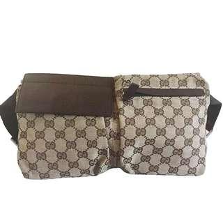 Authentic Gucci Brown Monogram Waist Bag