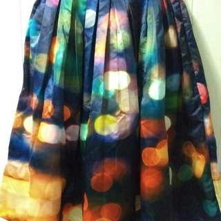 Chicwish Neon Light Pleated Midi Skirt Size M