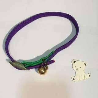 【免贈/二手費】毛小孩項圈(紫綠)NTD20/元(北市面交)ps. if您領養毛孩子可以免費贈送!