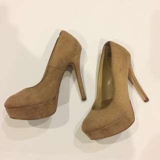 Payless Nude Platform Heels