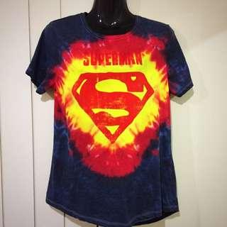 Tie Dye Superman Ladies T-Shirt