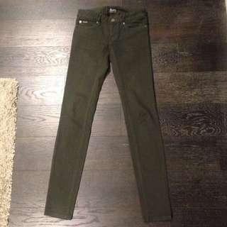 Dark Green Bardot Jeans size 6