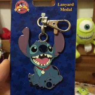 史迪奇鐵牌吊飾 鑰匙圈 迪士尼