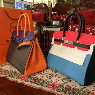 Hermes Birkin Bags Epsom and/or Togo Leather Tri-color