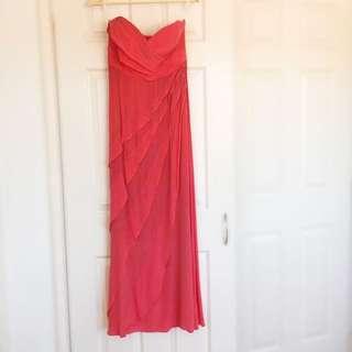 Coral Strapless Zimmerman Dress