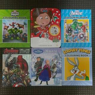 Assorted Colouring Books