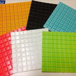 3D 立體彈性壁貼 30cm X 30cm 馬賽克磁磚款(牆貼 壁紙 防撞 防潮 壁癌 防水 抗菌 防蛀)