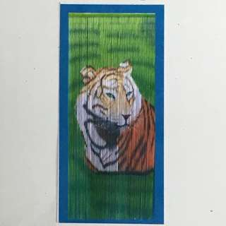 Tiger 🐯 Bamboo Door Curtain