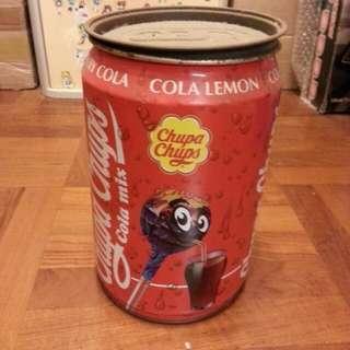 珍寶珠可樂糖舊巨大圓罐Chupa Chups Cola mix old tin 懷舊/珍藏/舊罐