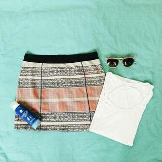 Aztec Print Mini Skirt by Forever21