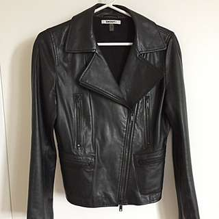 DKNY Leather Jacket - Size S