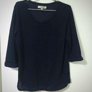 Size 14 Navy Blue Shirt