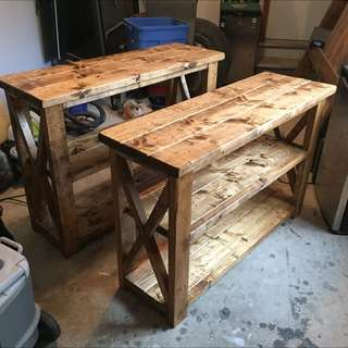 Hand Crafted Antique Style Console Table