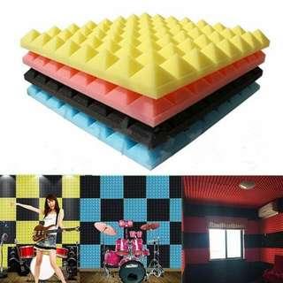 Soundproof Absorption Pyramid Foam Sponge For Home Studio [50cm×50cm×3.5cm]