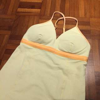 Lululemon Checked Yellow Tank Size 2