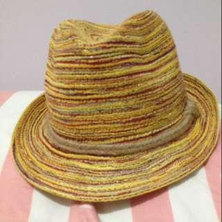 全新 編織草帽 紳士帽
