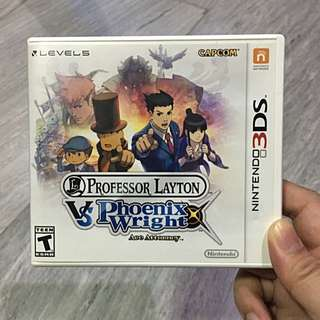 Professor Layton vs Phoenix Wright Ace Attorney™ For Nintendo 3DS™