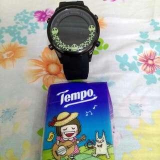 原裝正版 Disney 骷髅杰克電子顯示手錶
