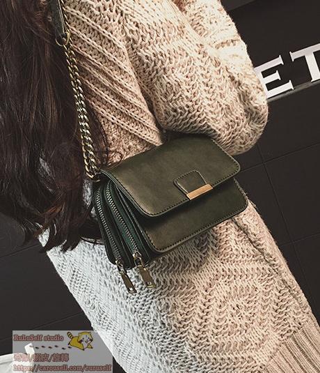 [包包]復古簡約鏈條小方包 肩背包 小包包