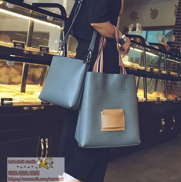 [包包]多色簡約子母大包包 手提包 托特包 肩背包