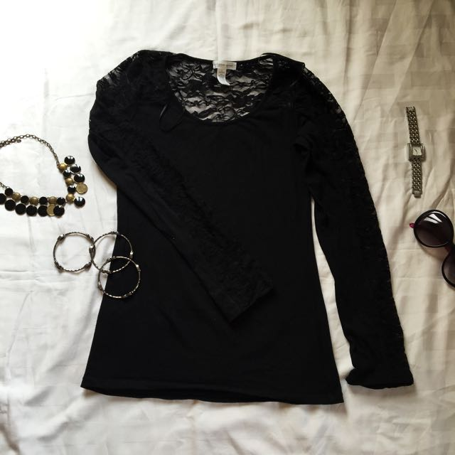 Ambiance Apparel Long sleeve Lace Blouse