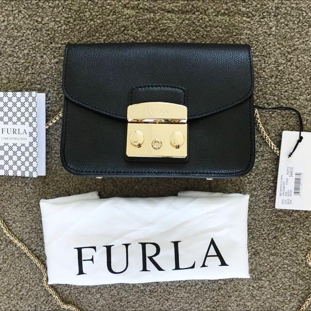 Authentic Furla Metropolis Mini crossbody Bag