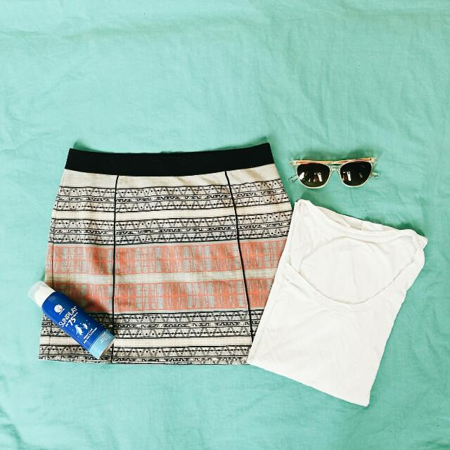 Aztec Print Mini Skirt by Forever21