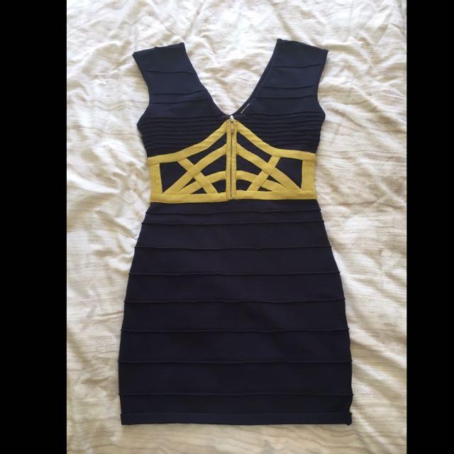 Bandage Dress Size M Navy