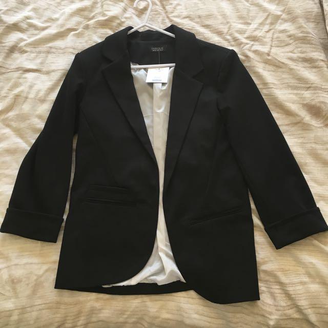Black Blazer Jacket Size UK8