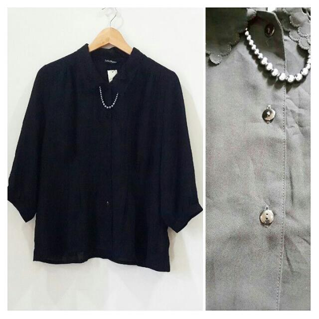 Black Blouse Size XL