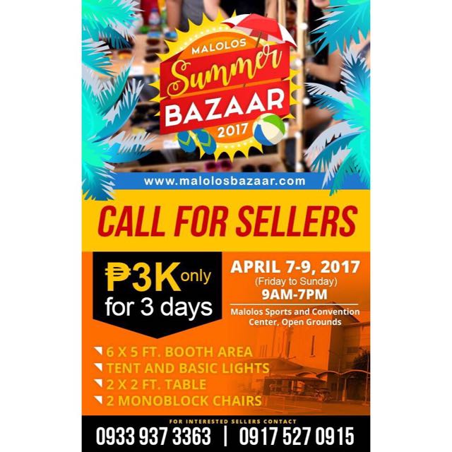 CALL FOR SELLERS BAZAAR