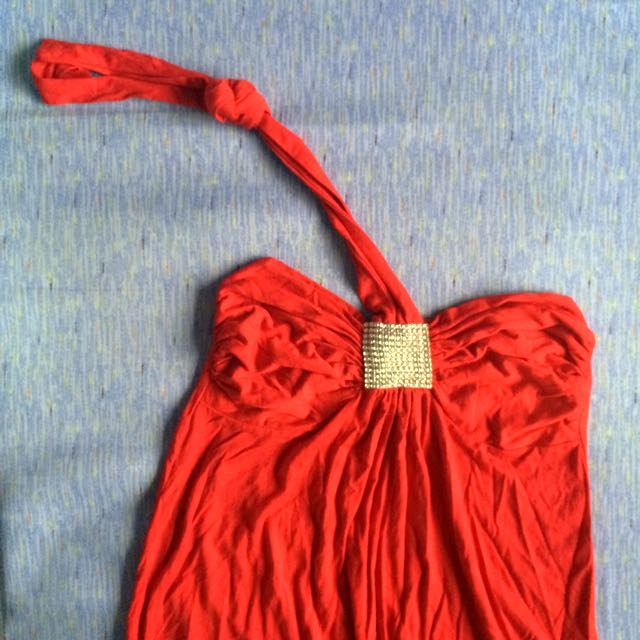Casual or Beach Red Dress