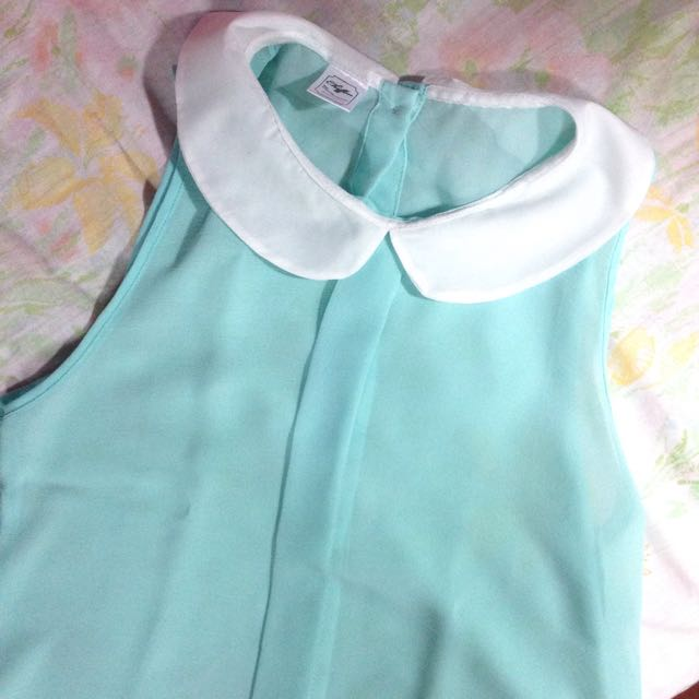 Chiffon Pastel Blue Sleeveless