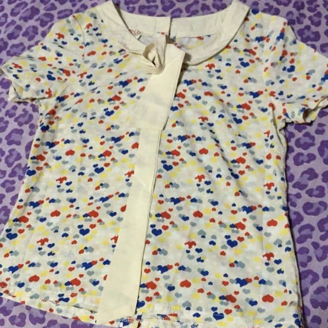 Cute Heart Prints Blouse