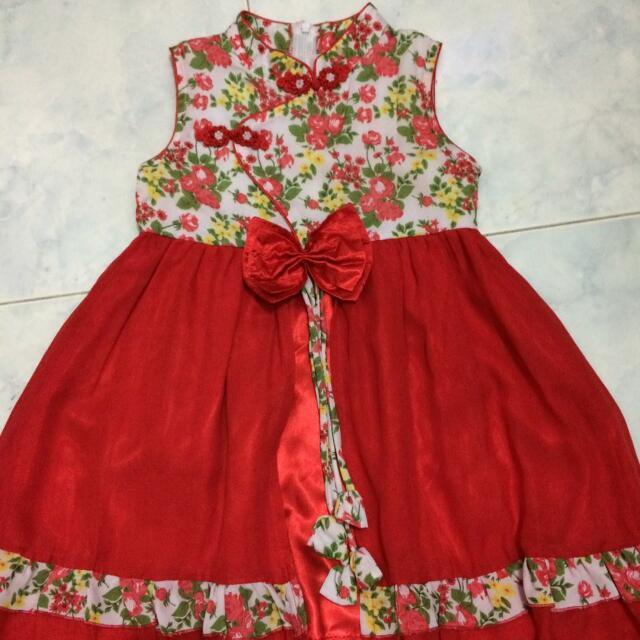 Dress Bunga2 Bahan Bagus